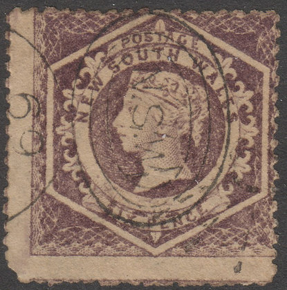 NEW SOUTH WALES SG 165 1860-72 6d Purple, Used
