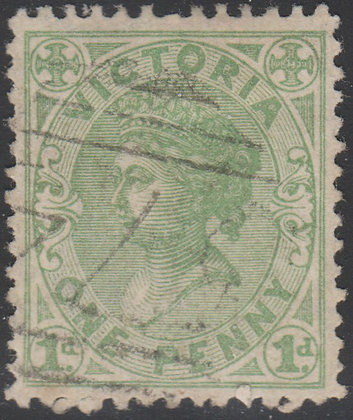 VICTORIA SG 201 1d Yellow-green. Used
