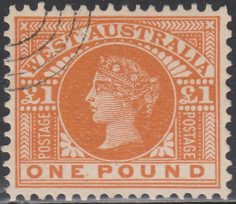 WESTERN AUSTRALIA SG 117-128 CTO SET OF 11 STAMPS