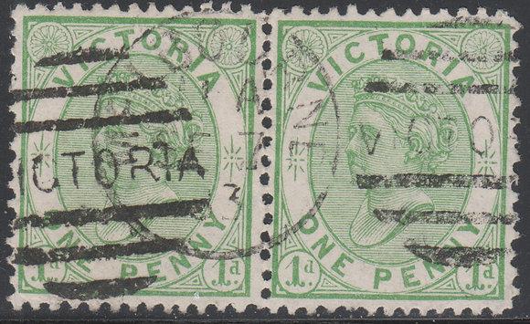 VICTORIA SG 177b 1d Yellow-Green