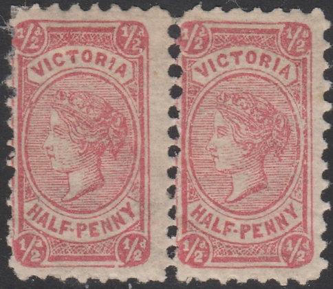 VICTORIA SG 176a ½d LILAC-ROSE MINT HINGED PAIR