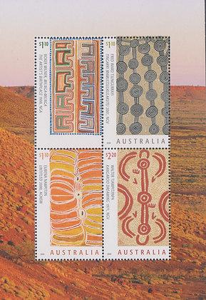 Australia 2020 Australia Missing Art of The Desert in a MUH Block of 4