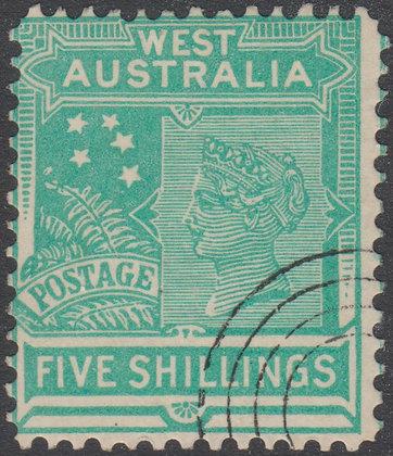 WESTERN AUSTRALIA SG 126 Both Dies Single Line Perf 12.4
