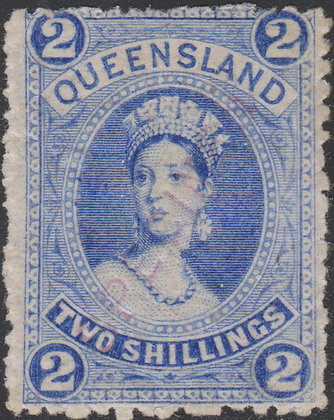QUEENSLAND SG 152, 154 & 156 DIAGONAL SPECIMEN