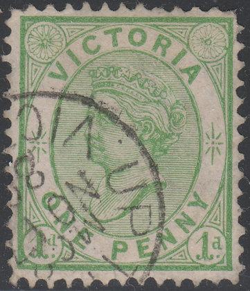 VICTORIA SG 182 1d Dull Bluish Green.
