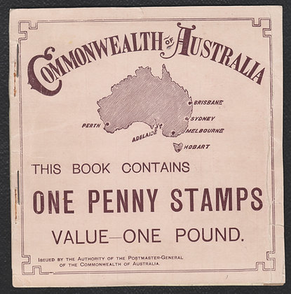 WESTERN AUSTRALIA B2 WA 1904-12£1 Booklet ( 1d x 240). Complete