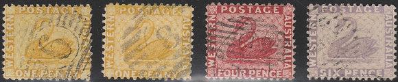 WESTERN AUSTRALIA SG 082w,83, 84 & 85