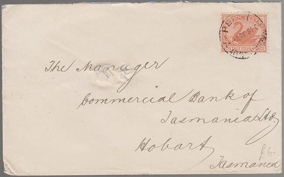 WESTERN AUSTRALIA 1904 (20SE) Perth to Hobart