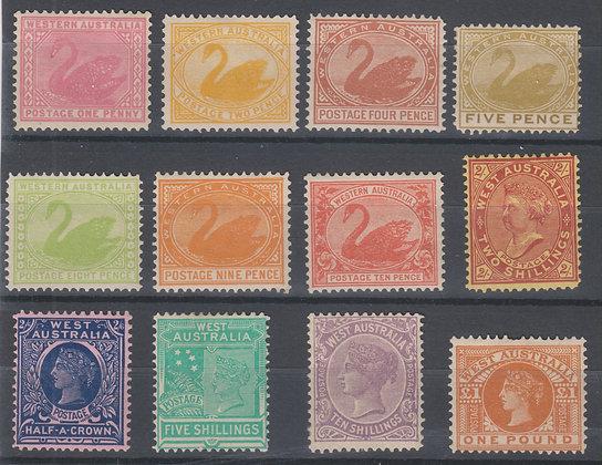 WESTERN AUSTRALIA SG 117-128 UNUSED SET OF 12