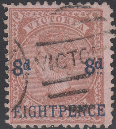 VICTORIA SG 191a F.IGHT PENCE Variety