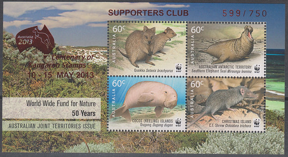 Australia 2013 World Stamp Exhibition, Supporters Club, 599/750