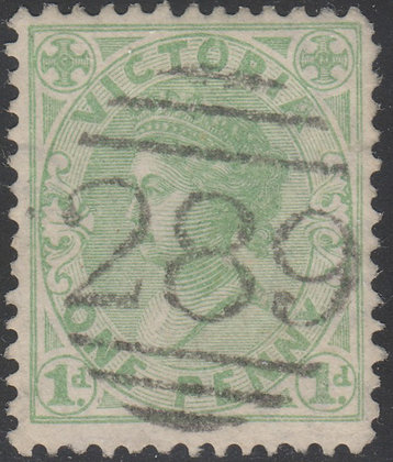 VICTORIA SG 209 1d Yellow-green. Used