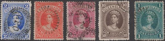 QUEENSLAND SG 152-156