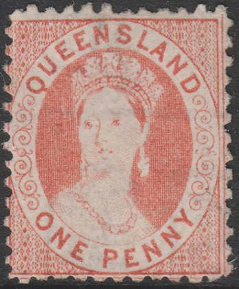 QUEENSLAND SG 097 1868-78 1d Flesh, Used,
