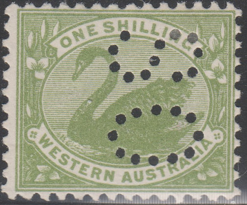 WESTERN AUSTRALIA SG 169 Punctured OS Mint Lightly Hinged