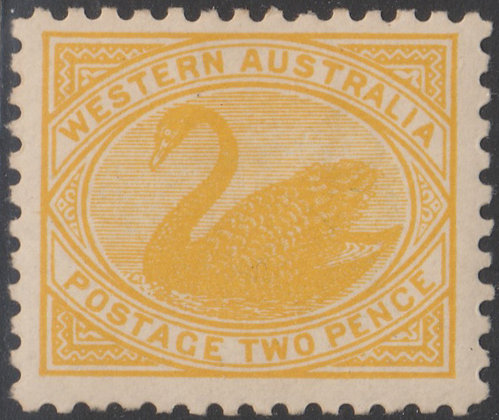 WESTERN AUSTRALIA SG 152 1905-12 2d Yellow, Mint Hinged, Perf 11