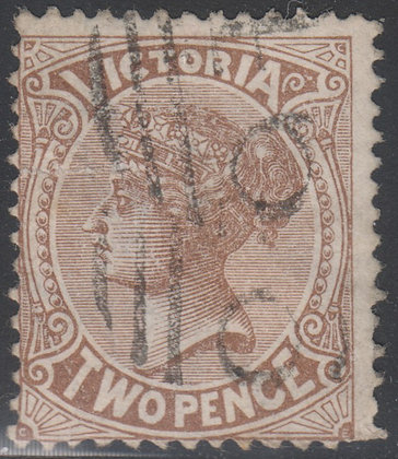 VICTORIA SG 202a 2d Sepia-brown