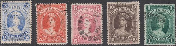 QUEENSLAND SG 157-161