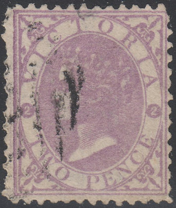 VICTORIA SG 169b 2d Mauve (worn Plate)