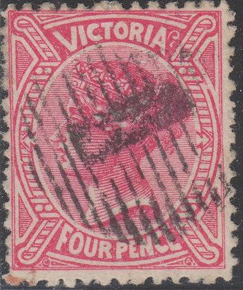 VICTORIA SG 206 4d Rose-carmine