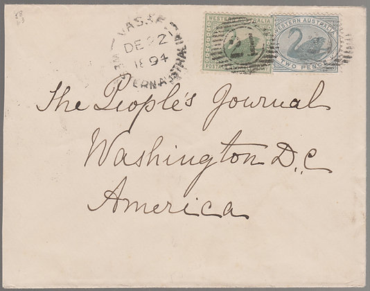WESTERN AUSTRALIA 1894 ( DE 22 ) Envelope