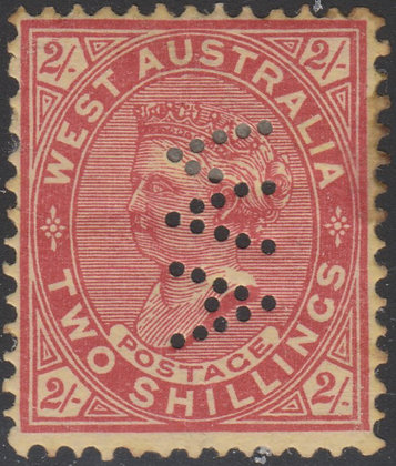 WESTERN AUSTRALIA SG 124a WA 1902-11 2/- Brownish Red on Yellow Mint Stain at RH