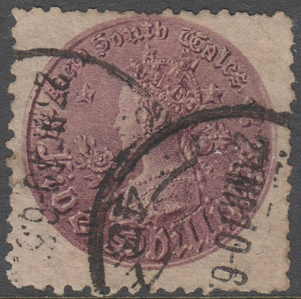 NEW SOUTH WALES SG 297c 1897-99 5/- Reddish Purple. Used