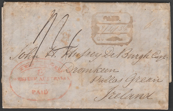 WESTERN AUSTRALIA 1849 ( 24AUG ) Entire.