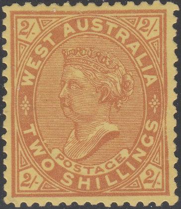 WESTERN AUSTRALIA SG 124c UNLISTED SIDEWAYS WATERMARK