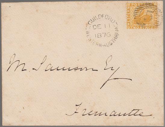 WESTERN AUSTRALIA 1876 ( DE 11 ) Envelope