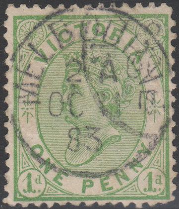 VICTORIA SG 208 1d Yellow Green