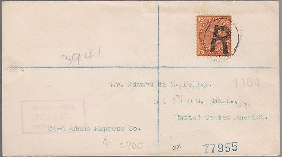 WESTERN AUSTRALIA 1903( 17 AUG) REGISTERED ENVELOPE.
