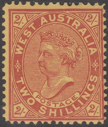 WESTERN AUSTRALIA SG 124 SINGLE LINE PERF