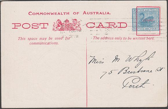 WESTERN AUSTRALIA 1d FLEET CARD 1908
