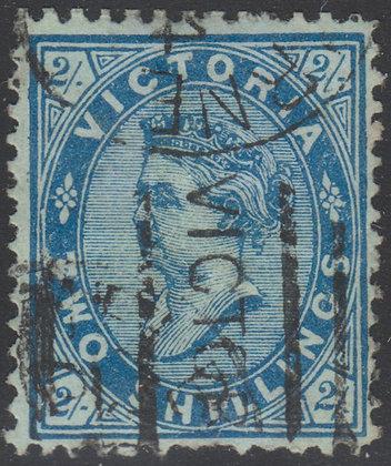 VICTORIA SG 190b 1/- Ultramarine on Green Paper.