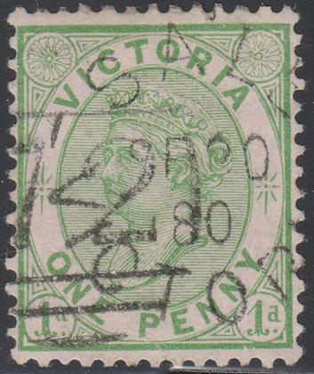 VICTORIA SG 188 1d Yellow-Green