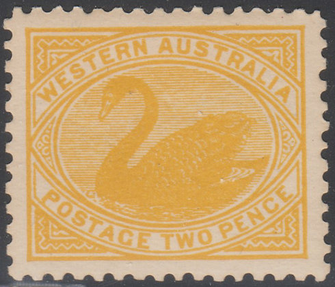 WESTERN AUSTRALIA SG 140 2d Yellow