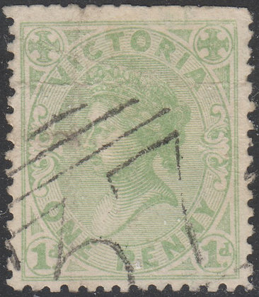 VICTORIA SG 209b 1d Pale Green Used