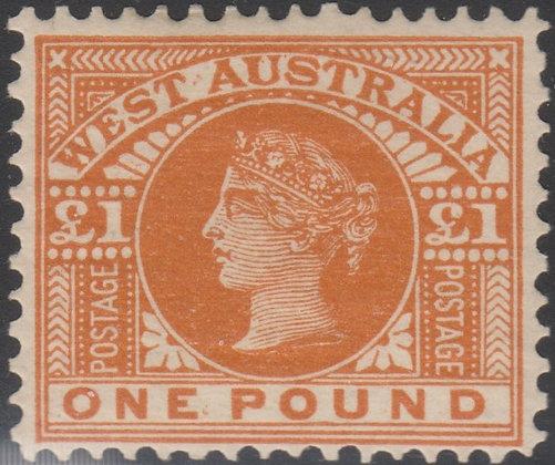 WESTERN AUSTRALIA SG 128  £1 Orange-brown,