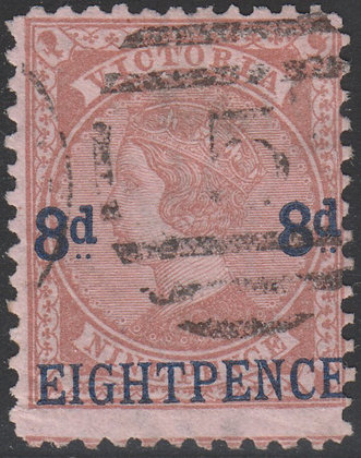 VICTORIA SG 191 8d on 9d Lilac-brown.