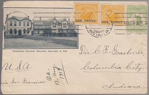 WESTERN AUSTRALIA 1913 ( 10 JUL) Illustrated Envelope
