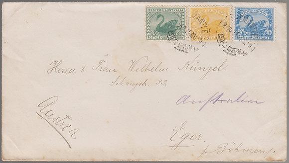 WESTERN AUSTRALIA 1910 ( 15 AU 10 ) Envelope.