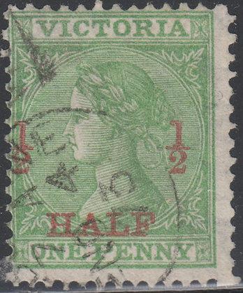 VICTORIA SG 174 ½d on 1d Green