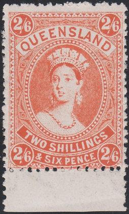 QUEENSLAND SG 309 1907-11 2/6d Vermilion, Fine Mint Lightly Hinged.