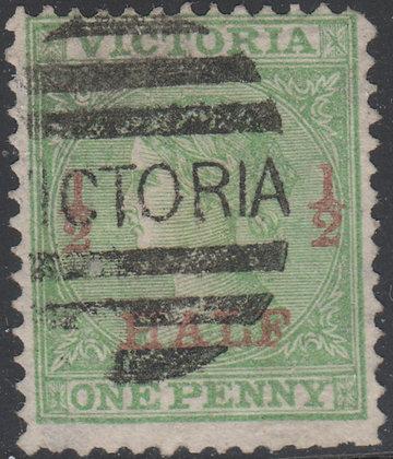 VICTORIA SG 174a ½d on 1d Grass Green