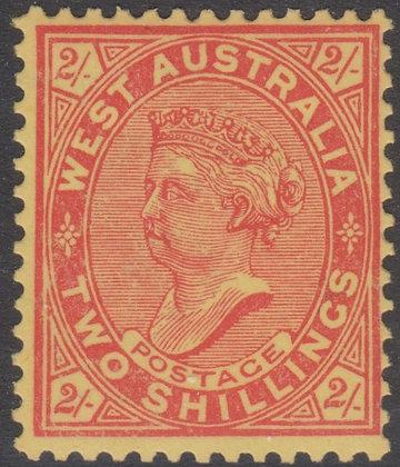 WESTERN AUSTRALIA SG 124 VERMILION