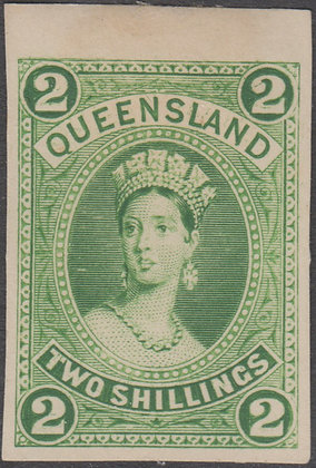 QUEENSLAND SG 152 PLATE PROOF COLOUR TRIAL YELLOW-GREEN