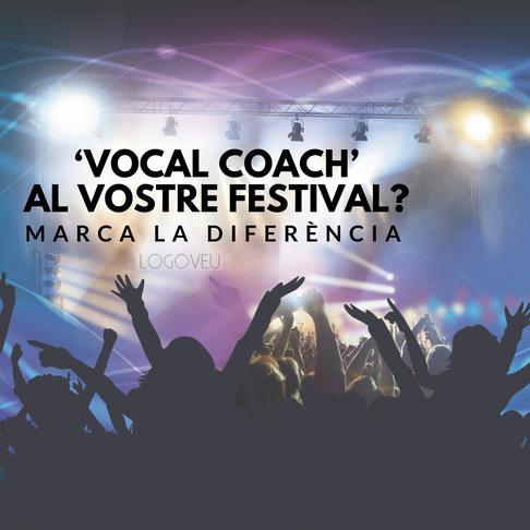 'Coach vocal' en tu sala/festival? Marca la diferencia
