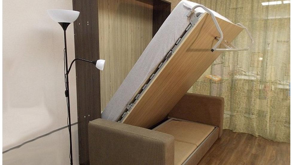 Шкаф-кровать с диваном с подлокотниками