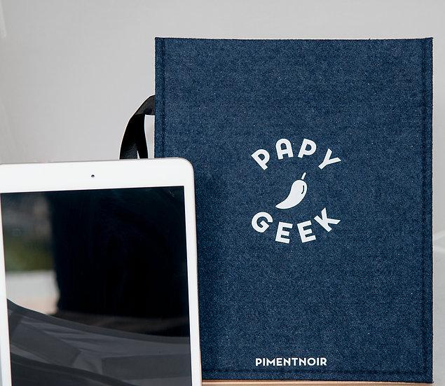 Housse iPad Papy geek